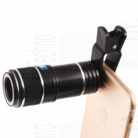Super zoom ottico moltiplicatore di focale 12x 330mm teleobiettivo universale per smartphone e tablet