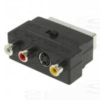 Convertitore adattatore audio video da Scart a RCA giallo bianco rosso s-video in e out
