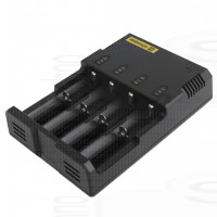 Nitecore Intellicharger i4 Carica pile 4 pile ricaricabili 1,2V 3,7V 4,2V Ni-Mh Ni-Cd Lithium Litio 18650 stilo ministilo