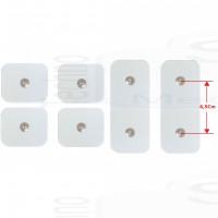 4+2 Elettrodi cerotti toppe adesivi 5x5cm 5x10cm ricambi cintura Dual Shaper e Abs A Round Gymform