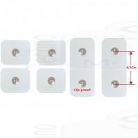 4+2 Elettrodi cerotti adesivi toppe ricambi accessori cintura Abs A Round PRO around Compatibili con Gymform bottone grande 4,4mm