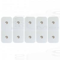 5 Elettrodi cerotti adesivi ricambi adesive compatibili Gym form Total ABS Platinum wonder abs plus bottoni piccoli