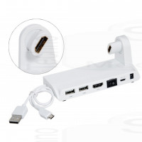 Mini PC Holder per Dongle Mini pc android 3 Usb Host SD card reader