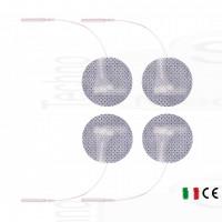 4 Elettrodi cerotti adesivi rotondi piccoli diametro 3cm elettrostimolazione viso seno con filo spinotto tesmed