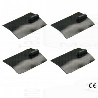 kit 4 elettrodi silicone placca gomma 60 x 85mm lunga durata ionoforesi tens elettrostimolazione spinotto grande 4mm