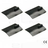 kit 4 elettrodi silicone placca gomma 50 x 100mm lunga durata ionoforesi tens elettrostimolazione spinotto grande 4mm