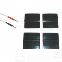 4 Elettrodi silicone adesivi rigenerabili riutilizzabili pre gellati patch gel quadrati 5x5cm compatibili con spinotto 2mm