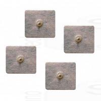 4 Elettrodi adesivi quadrati 5x5cm clip 4mm, anche per Dual Shaper e Abs A Round Gym form