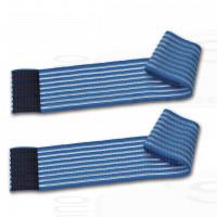 2 fasce elastiche blu regolazione a strappo 150Cm per trattamenti estetici e terapeutici elettrodi ionoforesi tens