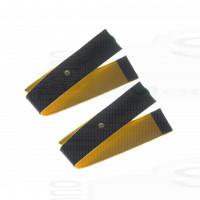 2 Fasce conduttive 80 Cm fiab a strappo in ecopelle di daino bottone 4mm per elettro stimolazione top pace pg933