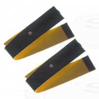 2 Fasce conduttive 140 Cm fiab a strappo in ecopelle di daino bottone 4mm per elettro stimolazione top pace pg933