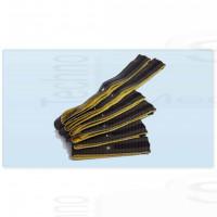 Kit di 6 Fasce conduttive a strappo per elettrostimolatore con clip 4mm top pace fiab pg933