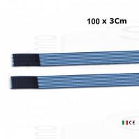 2 fasce elastiche altezza 3Cm lunghezza 100Cm elastic bands fissaggio a strappo per elettrodi stimolazione ionoforesi