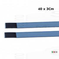 2 fasce elastiche altezza 3Cm lunghezza 40Cm elastic bands fissaggio a strappo per elettrodi stimolazione ionoforesi