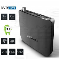 Mini PC Smart TV Box Android 7.1 con Ricevitore Tv Radio DVB-T2 DVR Recorder video registratore Player 4K H.265
