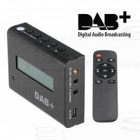 Ricevitore radio DAB+ receiver per casa e auto sintonizzatore digitale uscita audio connessione antenna esterna