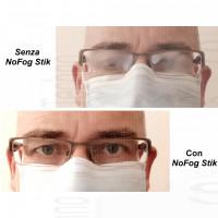 3 NoFog Stik Sagomabili anti appannamento occhiali per Maschere SENZA FERRETTO lenti appannate anti condensa fogged glasses