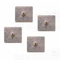 4 Elettrodi cerotti adesivi quadrati 5x5cm con clip snap 3,6mm compatibili compex