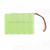 Pacco Batteria ricaricabile 6V 2200mah Ni-Mh 5 pile stilo AA 73x52x16mm standard alta qualità