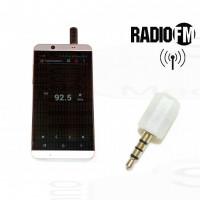 AntJack antenna radio FM simulatore cuffiette vivavoce per Smartphone 3,5mm colore BIANCO