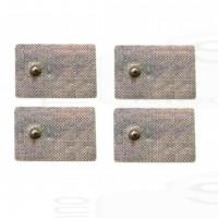 Kit 4 Elettrodi cerotti adesivi clip 4mm ricambi compatibili Abs & Core e Core plus Gymform