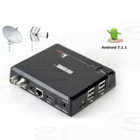 Mini PC KIPRO Android 7.1 S905D 2Gb 16Gb Ricevitore TV Dvb-T2 S2 C 4K Wifi 2.4/5G Bluetooth Videoregistratore smart tv