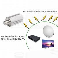 Protezione isolatore Sovratensioni Scariche Fulmini Temporali per decoder ricevitore satellitare parabola