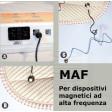 Materasso stuoia coperta MATRIMONIALE MAF magnetoterapia alta frequenza inquinamento campo magnetico