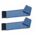 2 fasce elastiche elastic bands regolabili a strappo 120Cm fasciature bendaggi fissaggio elettrodi diffusori placche ems