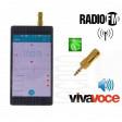 Gold AntJack antenna radio FM simula auricolari vivavoce per Smartphone cell jack 3,5mm metallo colore oro